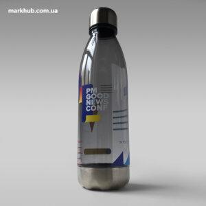 Друк по колу на пляшках для води