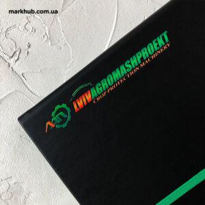 Друк логотипа з градієнтом на блокнотах