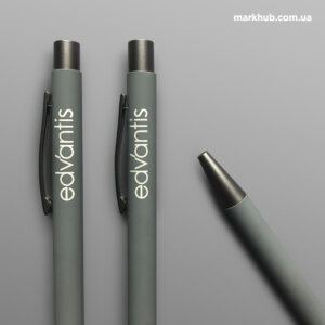 Гравіювання на металевих ручках з покриттям